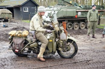 US Army Motorbike in the mud.